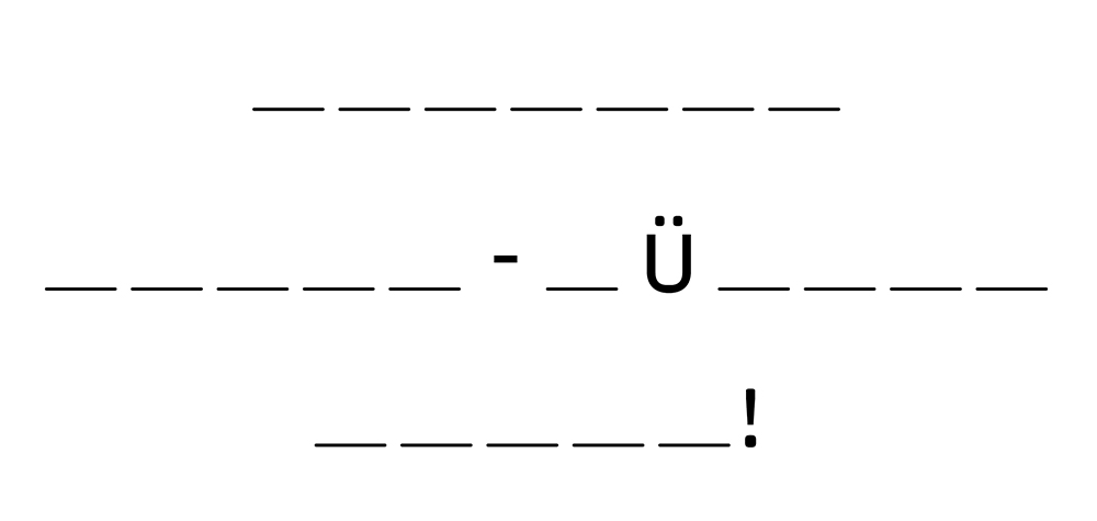 Buchstabenjagd Lösungssatz